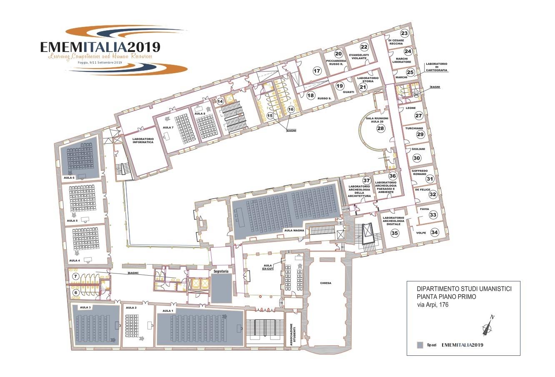 Mappe Aule Ememitalia 2019 - Foggia